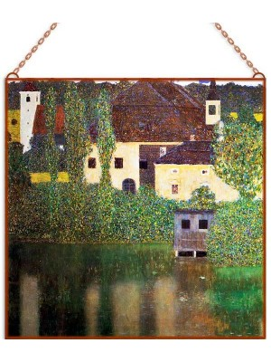 Gustav Klimt - Schloss Kammer on Lake Attersee III üvegkép