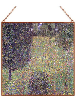 Gustav Klimt - Meadow in Flower üvegkép