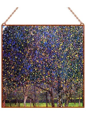 Gustav Klimt - The Pear Tree üvegkép