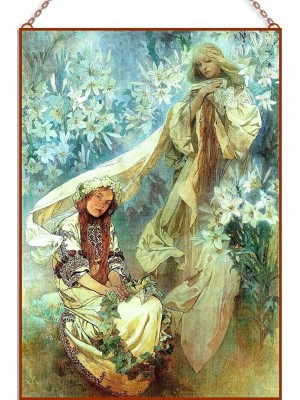 Mucha - Madonna of the Lilies