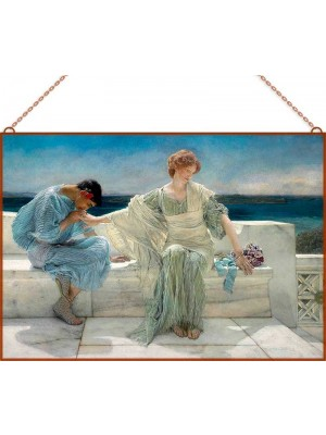 Sir Lawrence Alma-Tadema - Ask me no more üvegkép