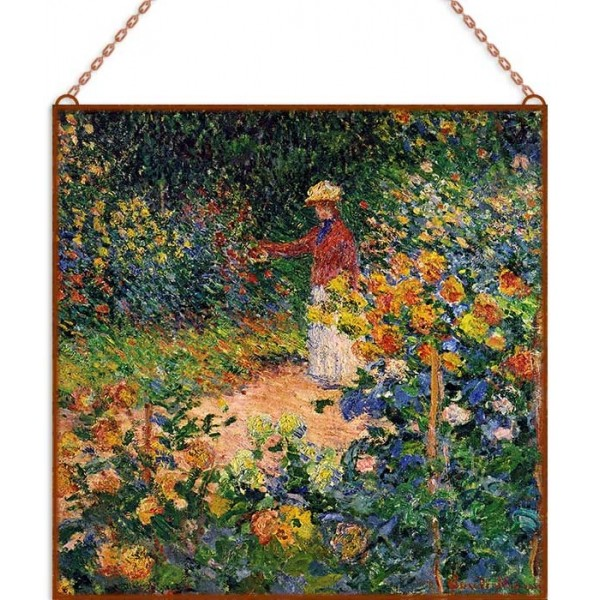 Monet - In the Garden üvegkép