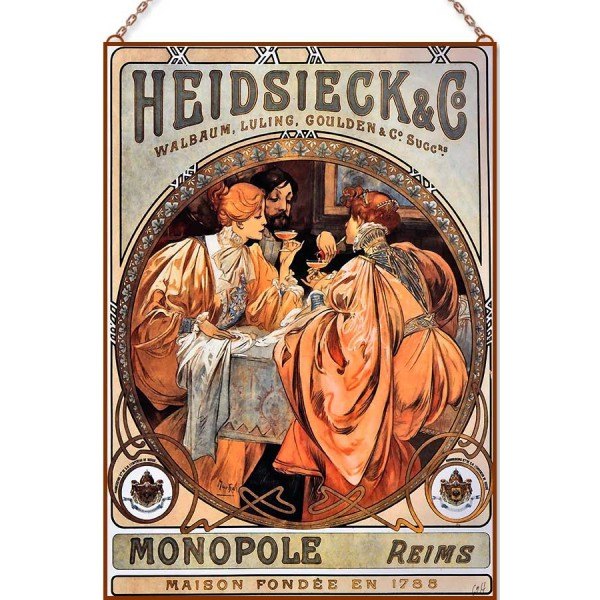 Alphonse Mucha - Heidsieck and Co üvegkép